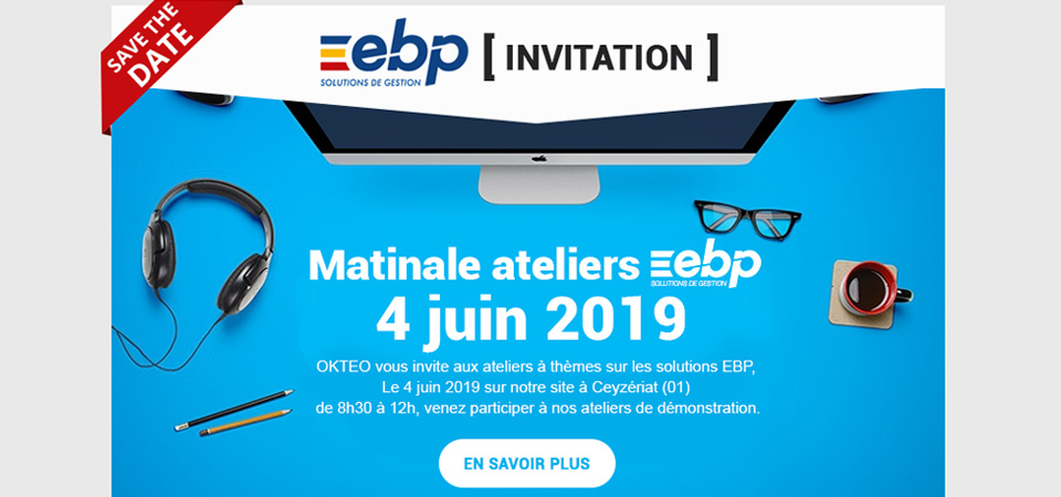Invitation : Matinale EBP by OKTEO